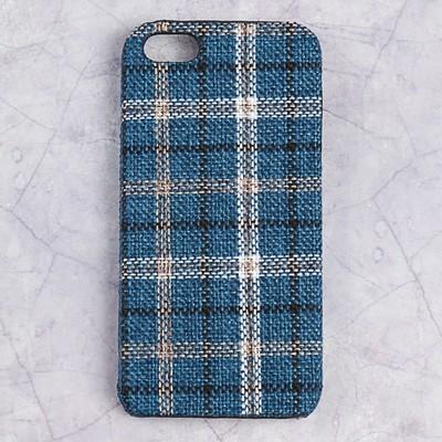 Чехол пластиковый Luazon Клетка для iPhone 5/5s, синий