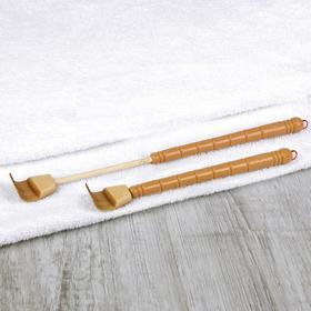 Чесалка деревянная, с раздвижной ручкой, с подвесом, 19 - 31,7 см, цвет бежевый Ош