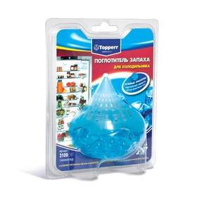 Гелевый поглотитель запаха Topperr для холодильников «Голубой лёд»