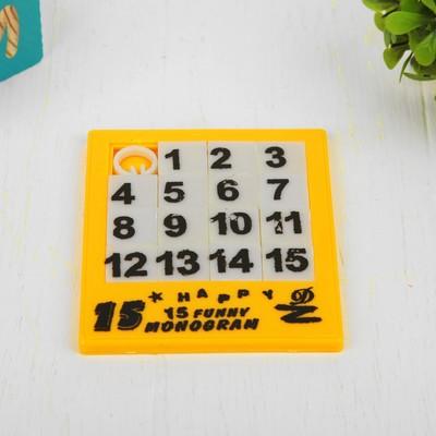Головоломка-пятнашка «Собери цифры», цвета МИКС