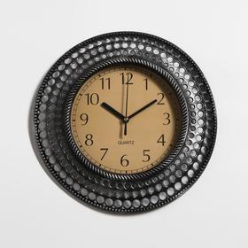 Часы настенные, серия: Интерьер, 'Бетмаль', хром, d=30 см Ош