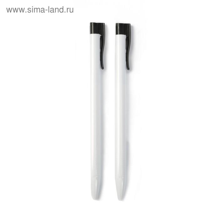 Ручка шариковая, 1.0 мм, стержень чёрный, корпус треугольный тонированный, белый