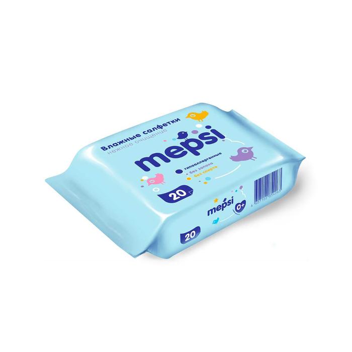 Влажные салфетки детские Mepsi, 20 шт