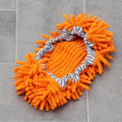Насадка для плоской гибкой швабры на резинке, 29×13 см, микрофибра букли, цвет МИКС
