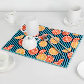 Коврик для сушки посуды 30×40 см 'Цитрусы', микрофибра Ош