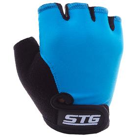 Перчатки велосипедные детские STG Х87905, размер M, цвет синий Ош