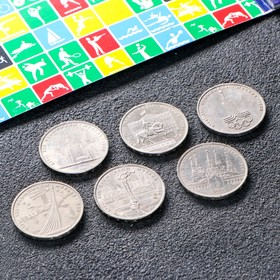 Альбом 'Олимпиада 80' 6 монет Ош