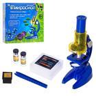 Микроскоп детский: 3 объектива, фокусировка, зеркальце - Фото 1