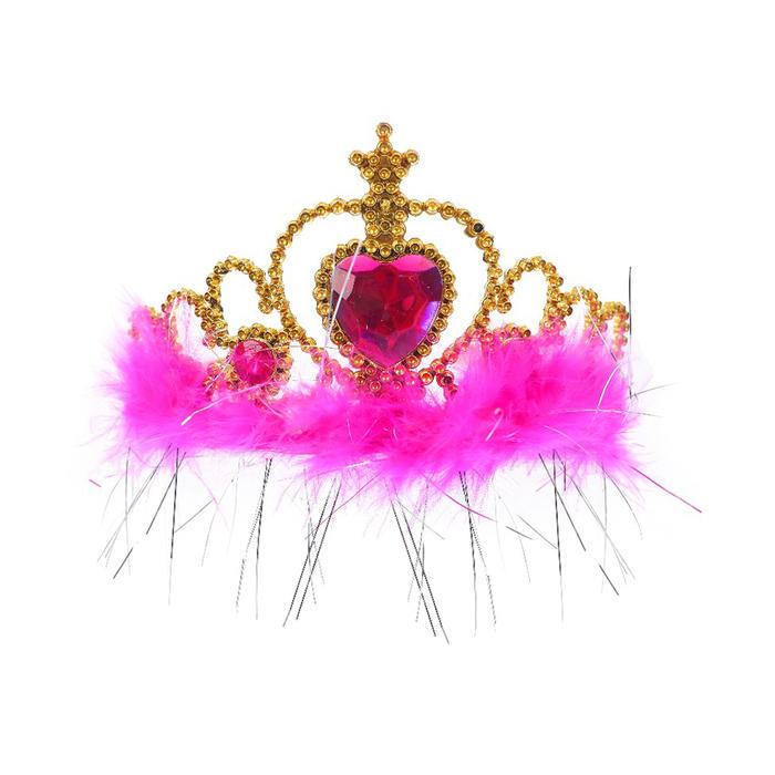Корона Красотка, с камнями, цвета МИКС
