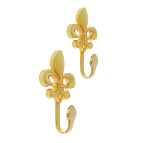 Крючок для штор KS004, однорожковый, цвет золото Ош