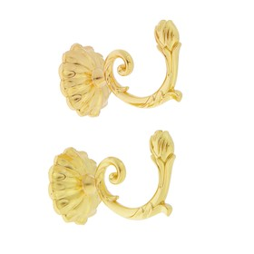 Крючок для штор KS006, однорожковый, цвет золото Ош