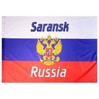 Флаг России с гербом, Саранск, 90х150 см, полиэстер