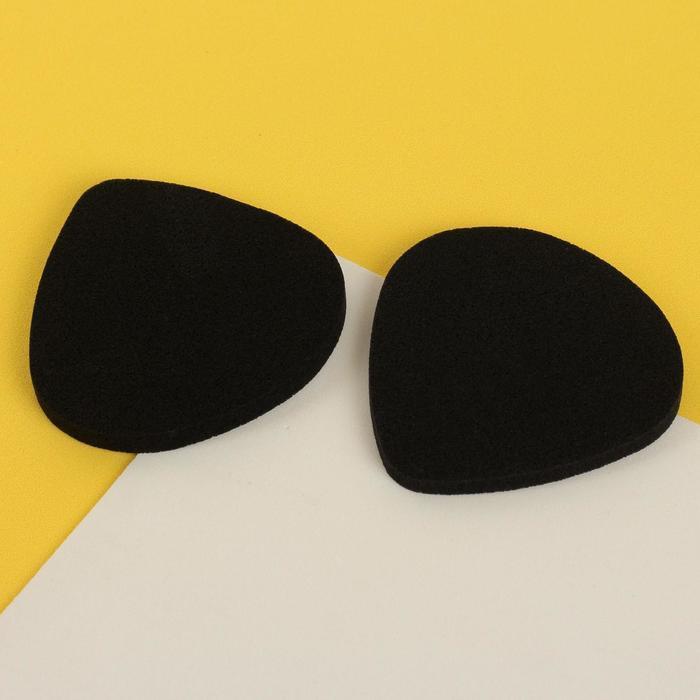 Набор матирующих спонжей для макияжа, 6 5,9 см, 2 шт, цвет чёрный