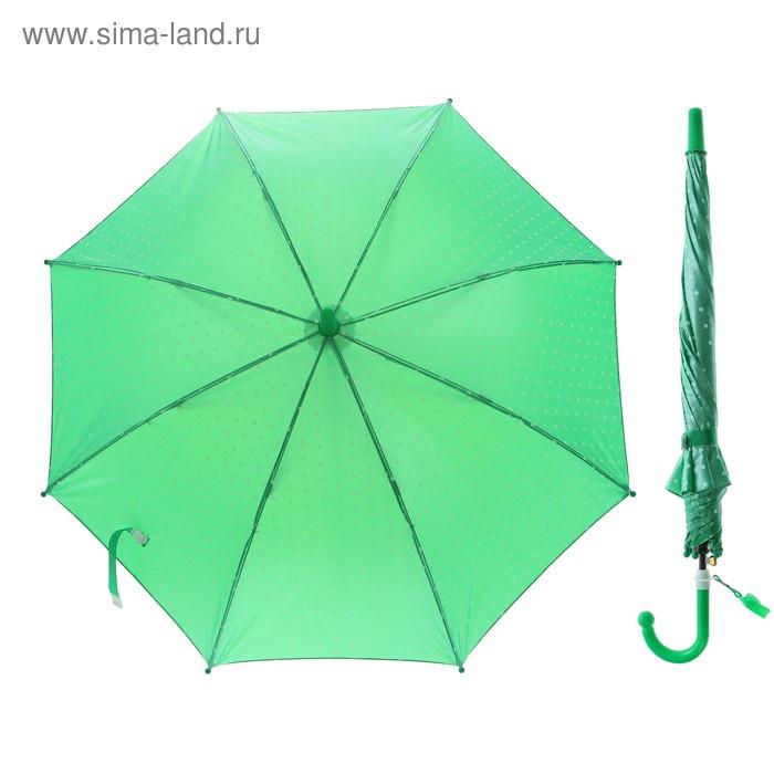 Зонт цветной, r=45 см, перламутровый горошек, ткань, со свистком, МИКС