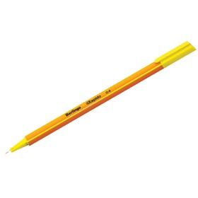 Ручка капиллярная Berlingo Rapido, 0,4 мм, трёхгранная, стержень жёлтый Ош