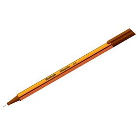Ручка капиллярная Berlingo Rapido, 0,4 мм, трёхгранная, стержень коричневый Ош