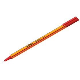 Ручка капиллярная Berlingo Rapido, 0,4 мм, трёхгранная, стержень красный Ош
