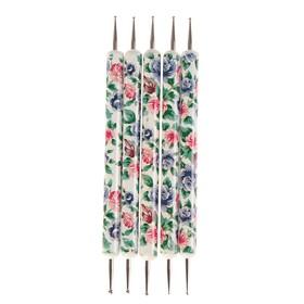 Набор инструментов для придания формы фоамирану 'Цветы' 5 шт 13 см Ош