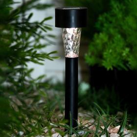 Фонарь садовый на солнечной батарее 'Трапеция', 30см,d=4.5см, 1led,пластик,шоубокс,теп. бел. Ош