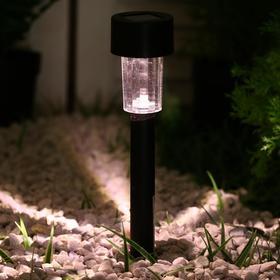 Фонарь садовый на солнечной батарее 'Цилиндр', 31 см, d=4.5 см, 1 led, пластик, ТЕПЛЫЙ БЕЛЫЙ Ош