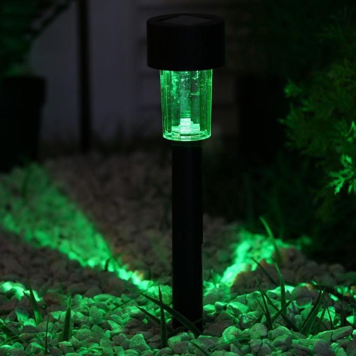 Фонарь садовый на солнечной батарее Цилиндр, 31 см, d4.5 см, 1 led, пластик, RGB
