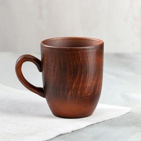 """Чашка """"Чайная"""", гладкая, красная глина, 0,3 л"""
