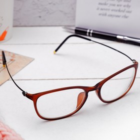 Очки 'Квадратные' стильные, оправа пластик, линза пластик, размер 14,5х14,5х4,5, цвет коричнево-чёрный, -1 Ош
