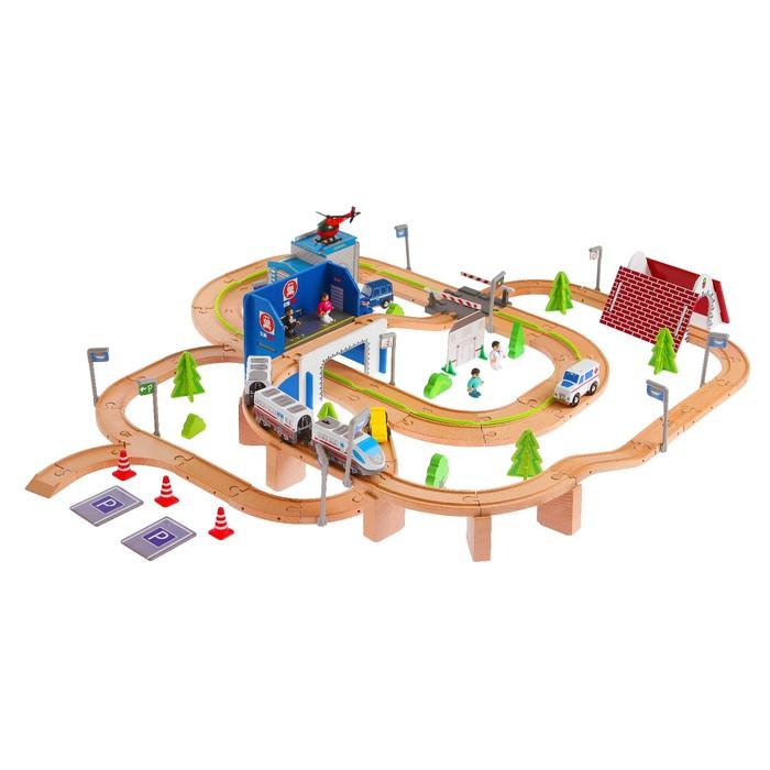 """Железная дорога """"Транспортная развязка"""" с мостом и аркой, 149 элементов"""