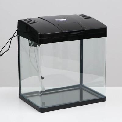 Аквариум SeaStar LS-380F, 30 л, черный (в комплекте LED-лампа, -топ-фильтр)