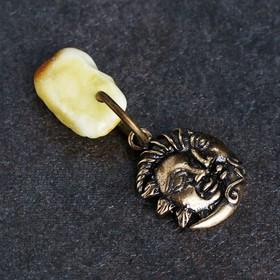 Брелок-талисман 'Луна', натуральный янтарь Ош