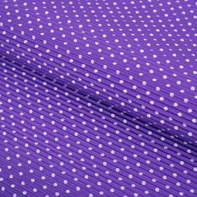 Бумага гофрированная 'Белый горох', фиолетовый, 50 х 70 см Ош
