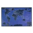 Карта мира светящаяся в темноте, 60х90 см, самоподзаряжается на свету, в тубусе