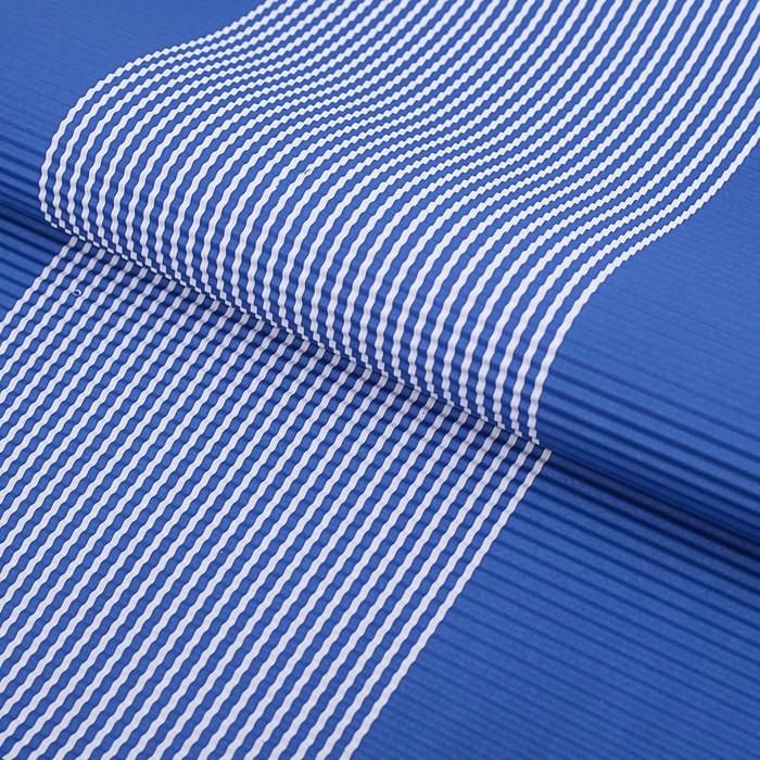 Бумага гофрированная Полоски, синий, 50 х 70 см