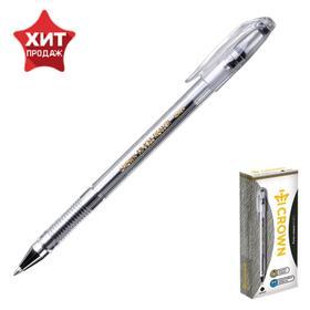 Ручка гелевая Crown HJR-500B, узел 0.5 мм, чернила чёрные