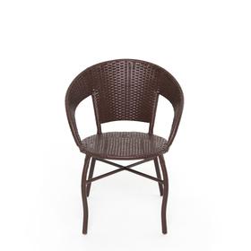 Стул, 53 × 53 × 75 см, искусственный ротанг, коричневый