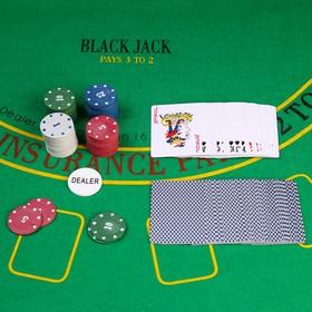 Покер, набор для игры (карты 54 шт, фишки 60 шт с номин.) микс Ош