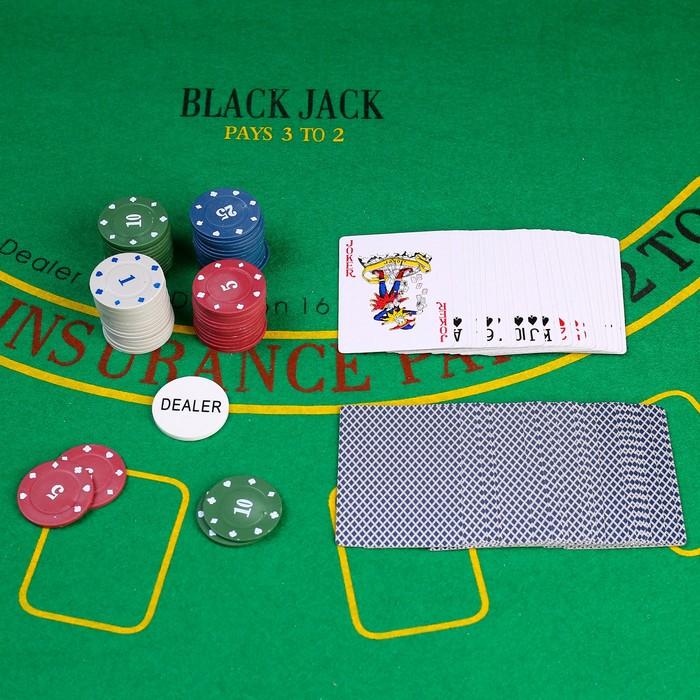 Покер, набор для игры карты 54 шт, фишки 60 шт с номин. микс