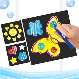 """Карандаши 3 цвета для ванной """"Чудесный день!"""", рисование по кафелю, ПВС трафареты 3 шт."""