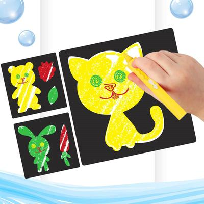 """Карандаши 3 цвета для ванной """"Давай играть!"""", рисование по кафелю, ПВС трафареты 3 шт."""