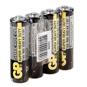 Батарейка солевая GP Supercell Super Heavy Duty, AA, R6-4S, 1.5В, спайка, 4 шт.