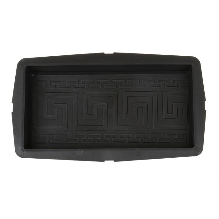 Форма для тротуарной плитки «Кирпич», 25 ? 12.5 ? 4.2 см, орнамент, Ф11014, 1 шт.