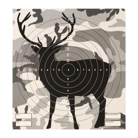 Мишень 'Олень' для стрельбы из пневматического  оружия,14 х14 см,дистанция 10 метров Ош
