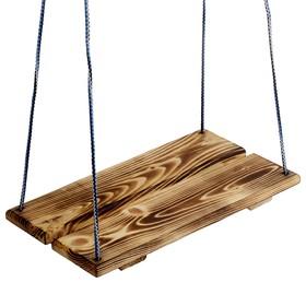 Качели подвесные, деревянные, сиденье 40×22см Ош