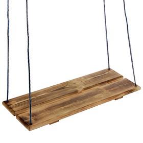 Качели подвесные, деревянные, сиденье 60×22см Ош