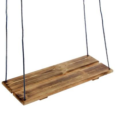 Качели подвесные, деревянные, сиденье 60×22см - Фото 1