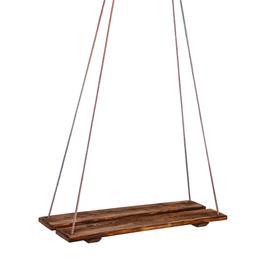 Качели подвесные, деревянные, брашированные, состаренные, 60х22см