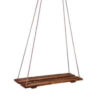 Качели подвесные, деревянные, брашированные, состаренные, 60х22см - Фото 1