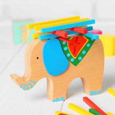 """Баланс """"Слоник с поклажей"""", в наборе 40 палочек, размер слона: 13 × 9 × 1,9 см - Фото 1"""