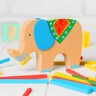 """Баланс """"Слоник с поклажей"""", в наборе 40 палочек, размер слона: 13 × 9 × 1,9 см - Фото 2"""