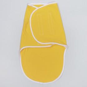 Пеленка-кокон на липучках, рост 50-62 см, цвет жёлтый, кулирка 1139